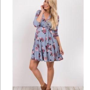NWT Pinkblush sash tie floral maternity dress